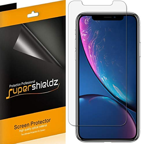 (6 Pack) Supershieldz for Apple iPhone 11 and iPhone XR (6.1 inch) Screen Protector, High Definition Clear Shield (PET)