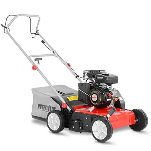 HECHT Vertikutierer Benzin (1,8 kW / 2,45 PS) – 38cm Arbeitsbreite – 40L Fangkorb – für die Rasenpflege und leichtes Entfernen von Moos - Unkraut im Rasen