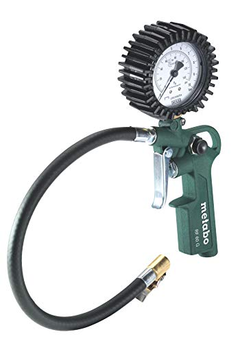 Metabo Druckluft-Reifenfüllmessgerät RF 60 G (602234000) Karton, Arbeitsdruck: 0.5 - 10 bar, Schlauchlänge: 35 cm, Gewicht: 0.45 kg