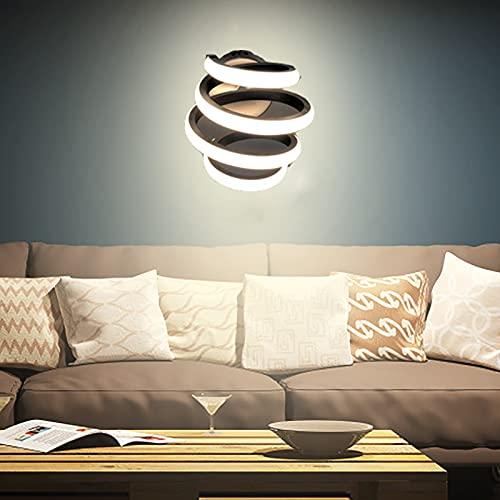 de pared led espiral,curvo LED lámpara de pared regulable,montaje en pared,24 W,es la decoración de interiores más bonita para salón,dormitorio,estudio