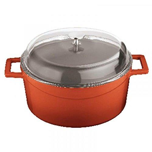 Ronde pan met deksel Cm 24 rood