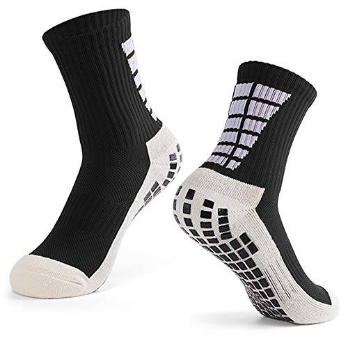 Explopur Herren Anti-Rutsch-Football-Socken Sports Soccer High Tube Socks