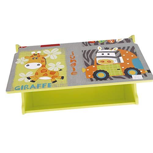 Bieco Spielzeugtruhe und Sitzbank | Aufbewahrungsbox Kinder | Holzkiste mit Deckel | Sitzbank mit Stauraum | Spielzeugkiste mit Deckel | Truhe Holz | Aufbewahrung Kinderzimmer | Spielzeugkiste Holz - 6