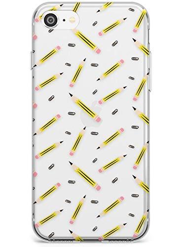 Lápiz Modelo Estuche delgado para iPhone 7 Plus, for iPhone 8 Plus   Claro Silicona TPU Protector Ligero Ultra Thin Cubrir Patrón Impreso   Lápices Único Profesor Instructor Escribiendo