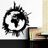 Viajar alrededor del mundo Tierra Viaje global Ciudad Edificio emblemático Vacaciones Turismo Vinilo Etiqueta de la pared Calcomanía del coche Dormitorio Oficina Club Decoración del hogar Mural