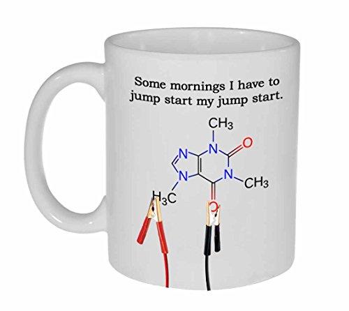 Spring Start Mijn Cafeïne - grappige witte keramische koffie of thee mok