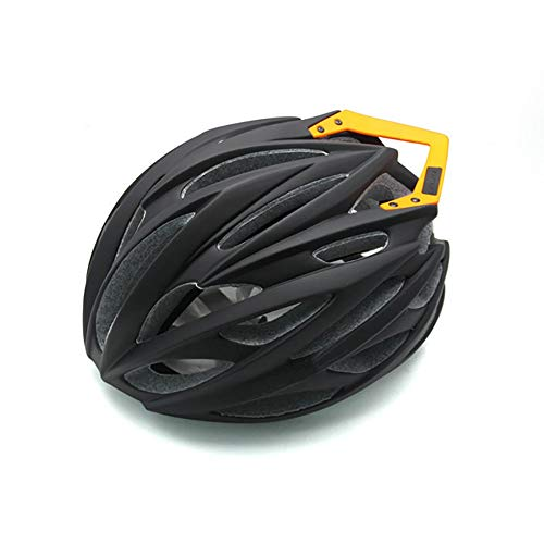 Stella Fella Cascos para hombre, casco de quilla de bicicleta de montaña, casco integrado con cola para montar al aire libre, casco de seguridad transpirable para hombres y mujeres (color: negro)