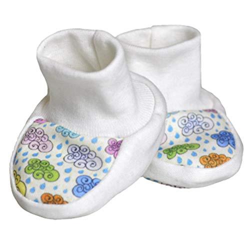 For Babies - Bio-Baumwolle Erstlingsschuhe Babyschuhe Babysocken für Mädchen und Jungen - 100% organic cotton – Made in EU (Bunte Wölkchen)
