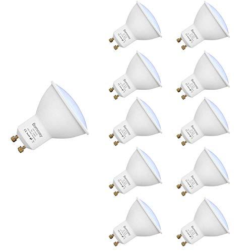 GU10 LED Lampen, Bomcosy 7W 600 Lumen LED Leuchtmittel, 3000 Kelvin Warmweiß, ersetzt 60W Halogenlampen, 120°Strahlwinkel Reflektorlampen, 100-240 Volt, 10er Pack