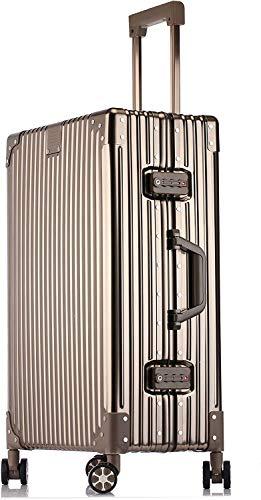 STYLISHJAPAN スーツケース オール アルミ合金 フレーム ボティ 軽量 耐衝撃 ビジネス 出張 (5色 2サイズ対応) (Sサイズ 40L 2泊?4泊 ゴールド)