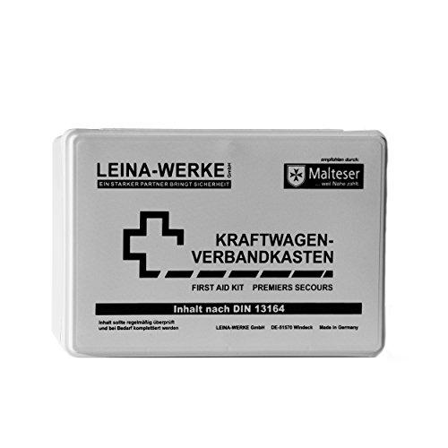 Leina-Werke 10003 KFZ-Verbandkasten Standard, Weiß/Schwarz