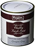 Rustins CHAPG500 Chalky Finish 500ml Georgian Grey Chalk Paint, Shabby Chic
