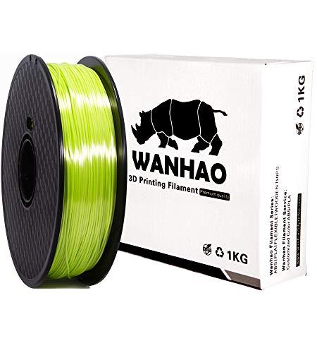 PLA SILK Tutti i colori PREMIUM WANHAO - 1,75 mm, 1 kg, filamento per stampante 3D, Verde pistacchio, 1