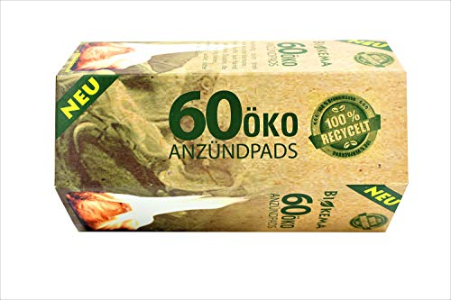 60 Kaminanzünder Öko Anzündpads Grillanzünder Bio Anzünder Holz Ofenanzünder