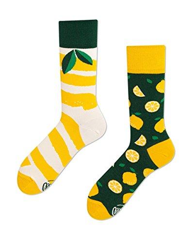Many Mornings - verrückte Mix und Match Socken - The Lemons/Zitrone Gr. 35-38