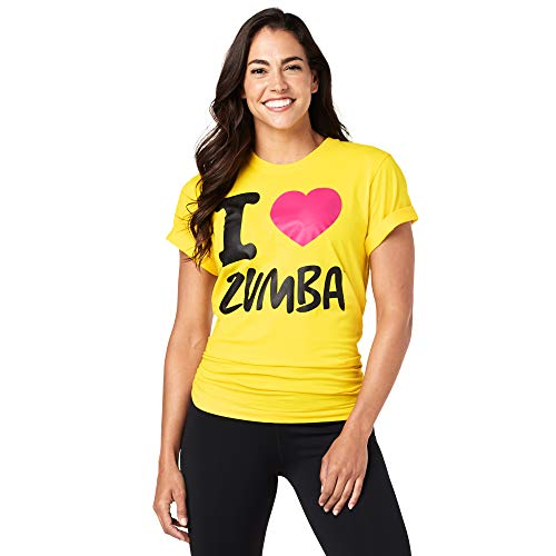 Zumba Unisex Tee, Mellow Yellow, M/L