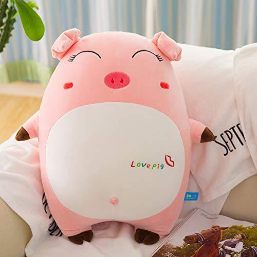 Almohada Emoji de Cerdo Rosa de algodón Nuevo de 30-85 cm, Cerdo con Almohada Suave, Mascota del año del Cerdo de la muñeca, Regalo de Juguete de Felpa 65 cm Ojos entrecerrados