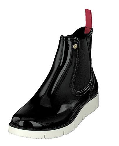 GOSCH SHOES Damen Schuhe Chelsea Boots Stiefelette 7105-320 in 6 Farben (38, Schwarz/Weiß)