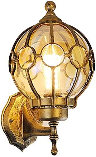 Lampada Da Parete Per Esterni Victoria Globe Lampada Da Esterno Impermeabile In Alluminio Per Veranda Con Paralumi In Vetro Cavo Illuminazione Esterna Per Garage (Taglia : 37 * 45cm)