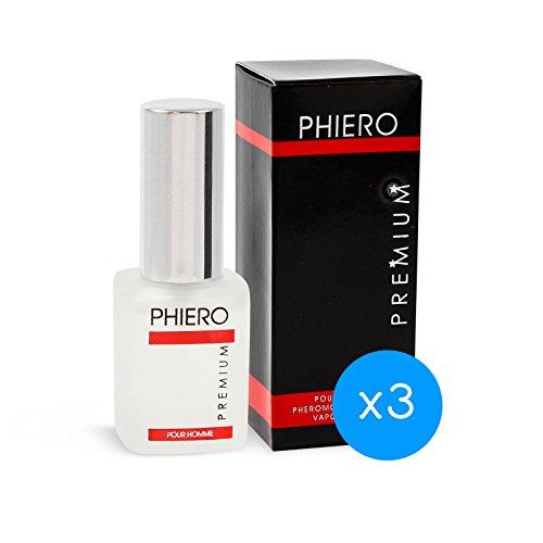 Pheromoni – 3 Phiero Premium: Profumo con feromoni per uomo