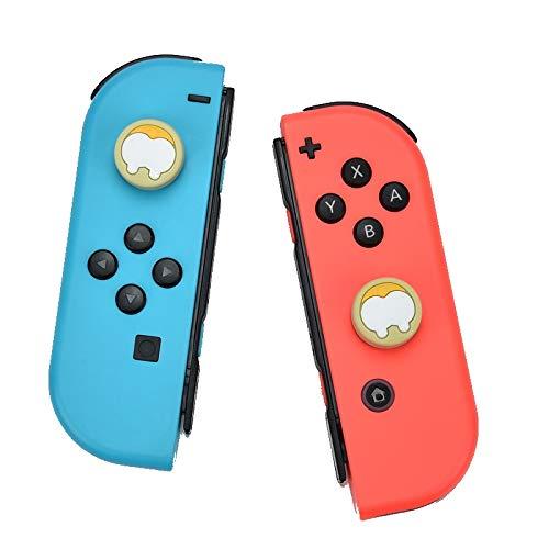 1 Paar Joystick Kappen / Aufsatz kompatibel mit Nintendo Switch & Lite - Silikon weich - besserer Grip / Halt - Anti Schwitz Daumen Stick (Hund)