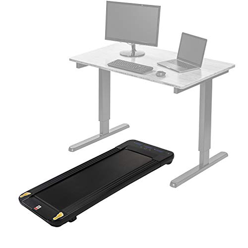Xspec Under Desk Treadmill for Cardio, Workout, Indoor Walking, Running and Exercise, Black