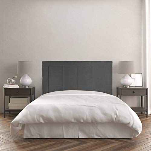 Dreaming Kamahaus Cabecero Agatha | Tapizado Tejido Nido | 190 x 60 cm | para Camas de 180 cm | Color Nido 1/Antracita | Antimanchas