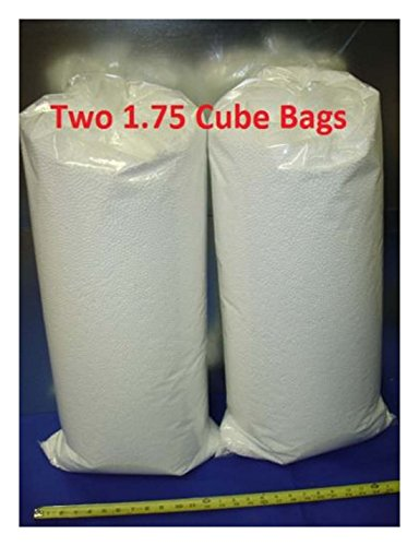 3.5 Cu Ft 4.5MM Virgin White Small Polystyrene Bean Bag Filler Beads Crafts U.S.A Made