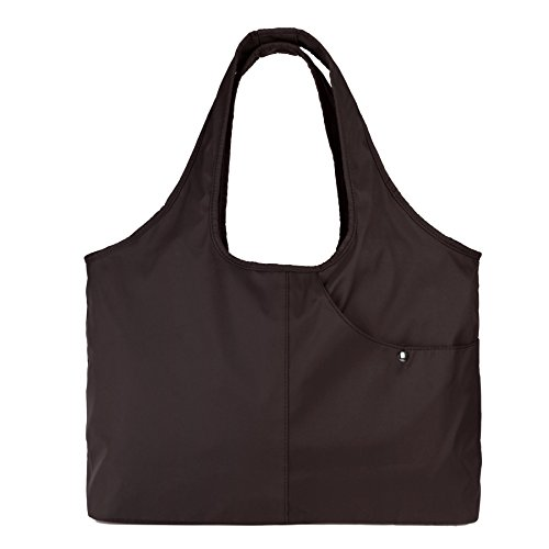 ZOOEASS Women Fashion Large Tote Shoulder Handbag Waterproof Tote Bag Multi-function Nylon Travel Shoulder(Brown)