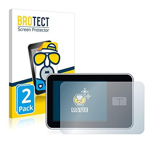 BROTECT 2X Entspiegelungs-Schutzfolie kompatibel mit Tandem Diabetes Care t:Slim X2 Insulin Pump Bildschirmschutz-Folie Matt, Anti-Fingerprint