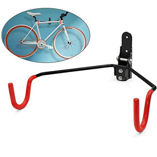 LOVEHOUGE Soporte Bicicletas,Montaje En Pared Soporte De Almacenamiento De Bicicletas Percha para Garaje O Cobertizo,Fácil De Instalar (Incluye Tornillos),Rojo