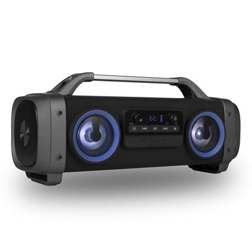 NGS Street Breaker Mini - Boombox Portátil de 100W Compatible con Tecnología Bluetooth. Pantalla LED. Color Negro y Azul