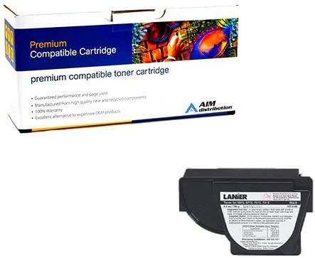 AIM Compatible Replacement for Lanier 6613/6713/7313 Copier Toner (180 Grams-4300 Page Yield) (117-0186) - Generic