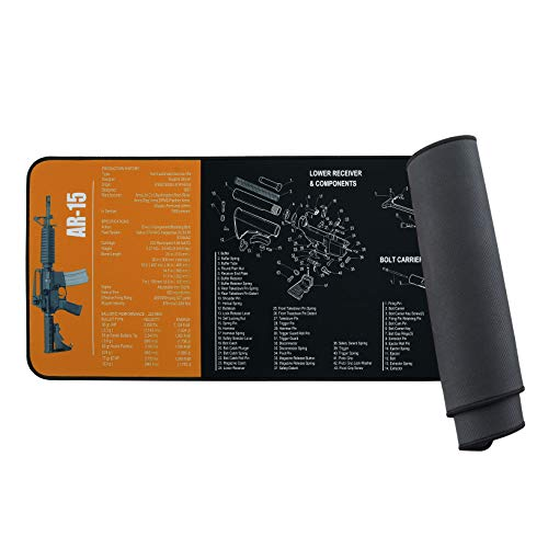"""BOOSTEADY Gun Cleaning Mat for Rifle Pistol Shotgun 37 x 12"""",Magnetic Large Surface Thick Neoprene Mat for Gun Cleaning"""