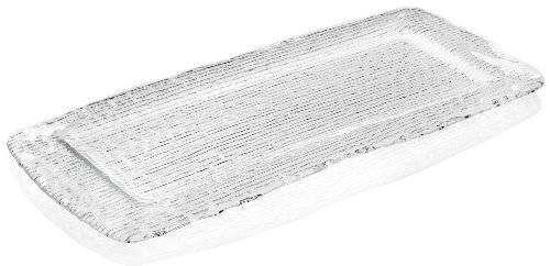 IVV Glassware All In One Rectangular Platter, 17-3/4 by 8-1/2-Inch, Clear