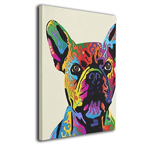ShuciYAO - Lienzo decorativo para pared (20 x 30 cm), diseño de bulldog...