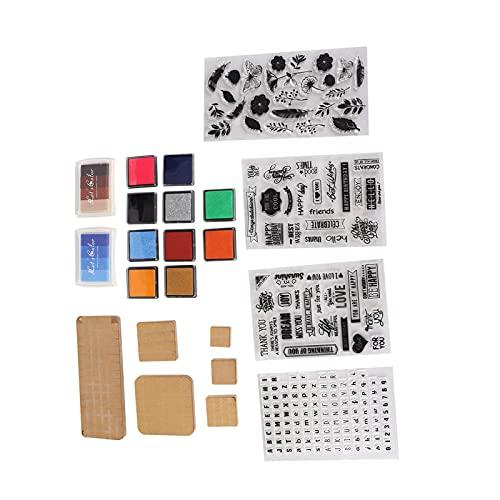 アクリルスタンプブロックセット、ホリデーカード用の布製木製紙ポスター用透明6アクリルボードDIYスタンプセットスクラップブック絵画
