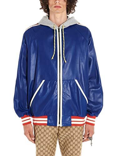 Luxury Fashion   Gucci Heren 571915XNAFS4589 Donkerblauw Leer Outerwear Jassen   Herfst-winter 19
