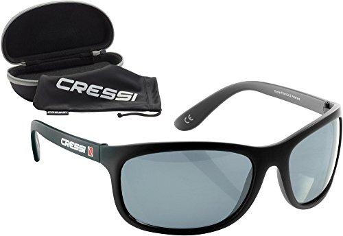 Cressi Rocker Gafas de Sol Flotantes, Adulto Hombre, Negro/Lente Gris, Talla Única