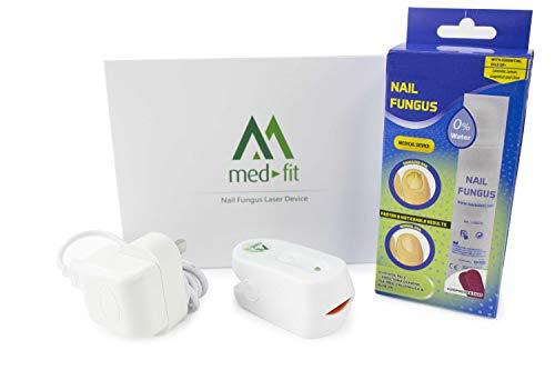 Láser recargable Med-Fit para hongos de uñas - Tratamiento doble acción probado con crema incluida para hongos de uñas: Tratamiento altamente eficaz para hongos de las uñas