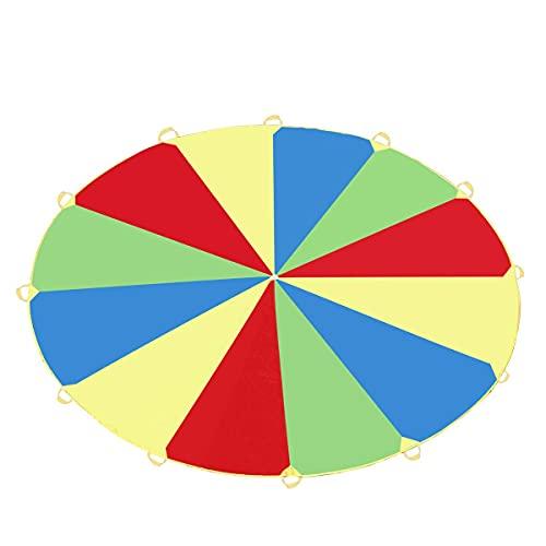 Shoplifemore Paracaídas Play & Trampoline Carpa 16 asas para niños juegos al aire libre ejercicio desarrollo jardín de infancia