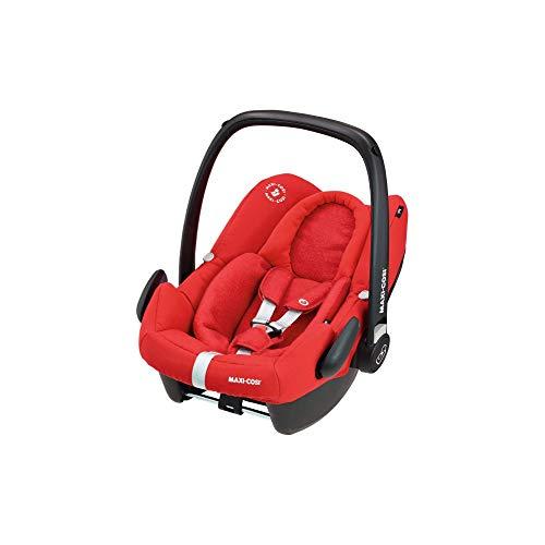 Maxi-Cosi Rock Babyschale, sicherer i-Size Kindersitz, Gruppe 0+ (0-13 kg), nutzbar ab der Geburt bis 12 Monate, nomad red