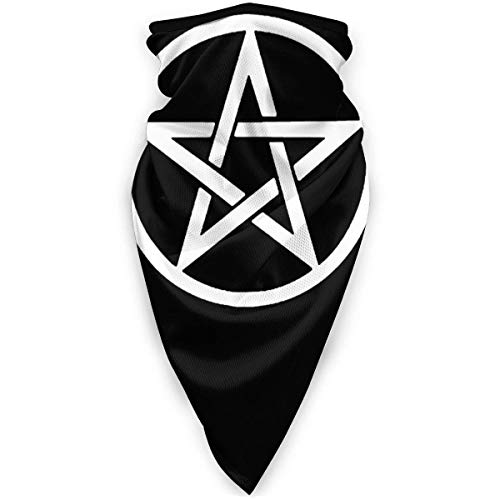 Lawenp Triple Moon Pentacle Pagan Outdoor Face Mouth Scarf Windproof Sports Scarf Shield Protection Scarf Neck Gaiter Warmer Balaclava