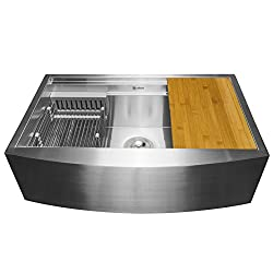 most affordable farmhouse sinks - stainless steel