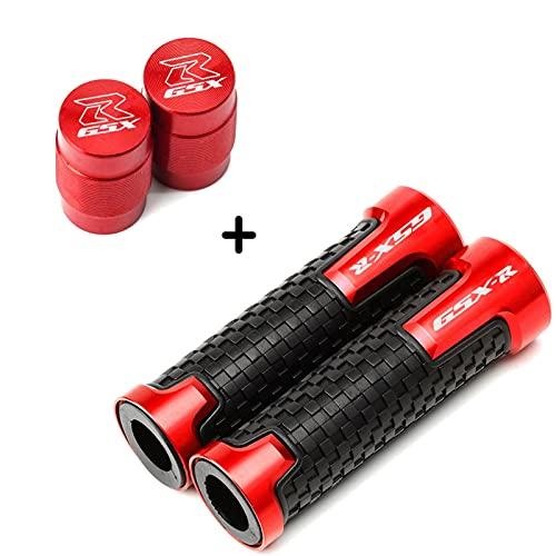 Para Suzuki GSXR 600 750 1000 1300 GSX-R K2 K3 K4 K5 K6 K7 K8 K9 Accesorios de motocicleta Tapas de válvula de neumático y puños de manillar (color: 1 par rojo)