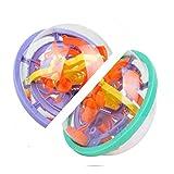 Un par de bolas de laberinto 3D, bolas de cerebro para rodar el laberinto, ayudan a practicar la concentración, un gran regalo para adultos, niños y niños.