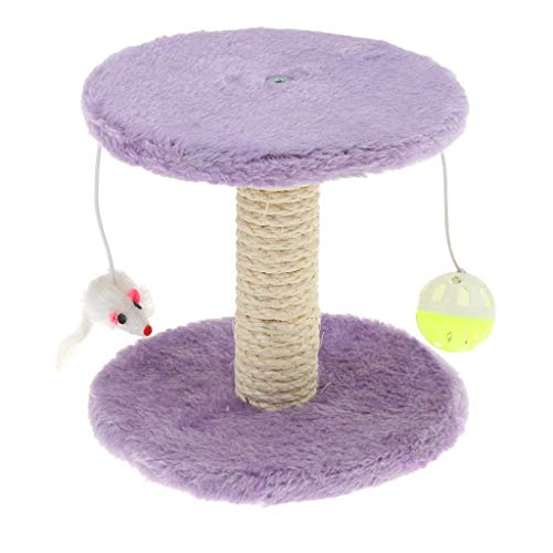 Tubayia - Tiragraffi per gatti e gatti, colore: viola