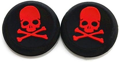 Vivi Audio? Thumb Stick Grips Cap Cover Joystick Thumbsticks Caps for PS4 Xbox ONE Xbox 360 PS3 PS2 Red Skull