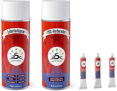 Penta Star Color Set 5-400: Leather kleur okergeel RAL 1024 & lederen reiniger 400ml spray & vloeibaar leer & lederen spatel 8gr tube voor het kleuren en restaureren van lederen stoelen, leren schoenen & andere lederen artikelen
