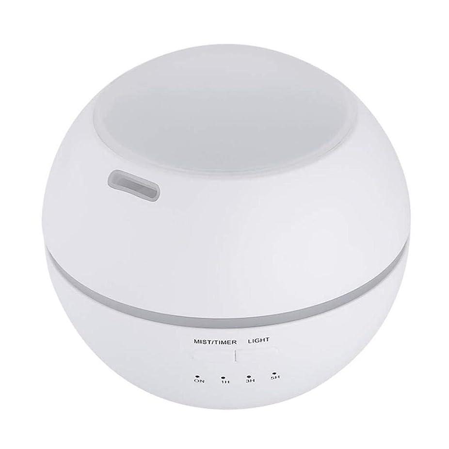 喜ぶハンカチ説教する加湿器、ポータブルアロマテラピーランプ、エッセンシャルオイルディフューザー加湿器、LEDランプの色を変える、空気清浄アロマテラピーマシン、サイレント家庭用 (Color : 白)